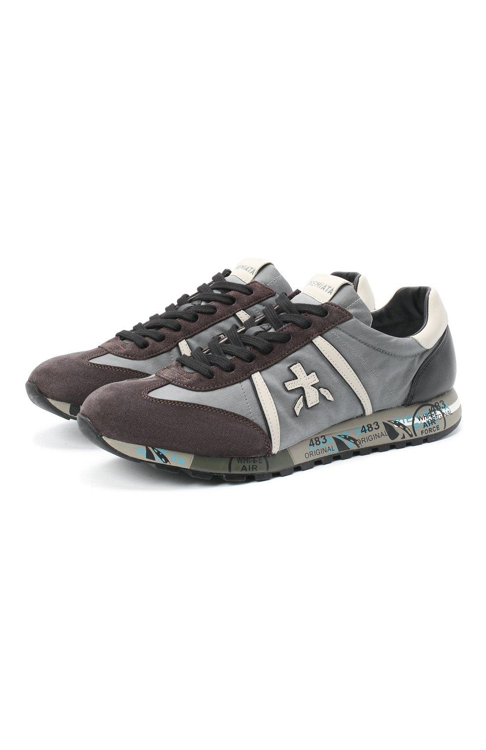 Мужские комбинированные кроссовки lucy PREMIATA серого цвета, арт. LUCY/VAR4929   Фото 1