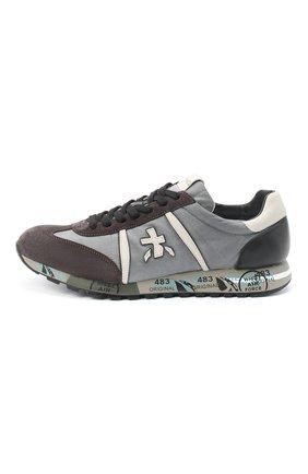 Мужские комбинированные кроссовки lucy PREMIATA серого цвета, арт. LUCY/VAR4929   Фото 3