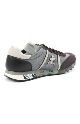 Мужские комбинированные кроссовки lucy PREMIATA серого цвета, арт. LUCY/VAR4929   Фото 4