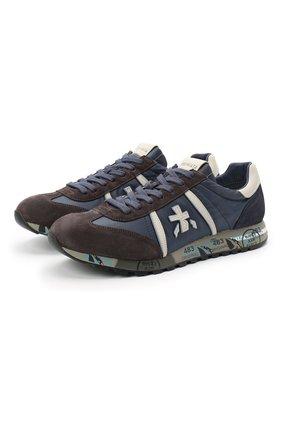 Мужские комбинированные кроссовки lucy PREMIATA синего цвета, арт. LUCY/VAR4931 | Фото 1