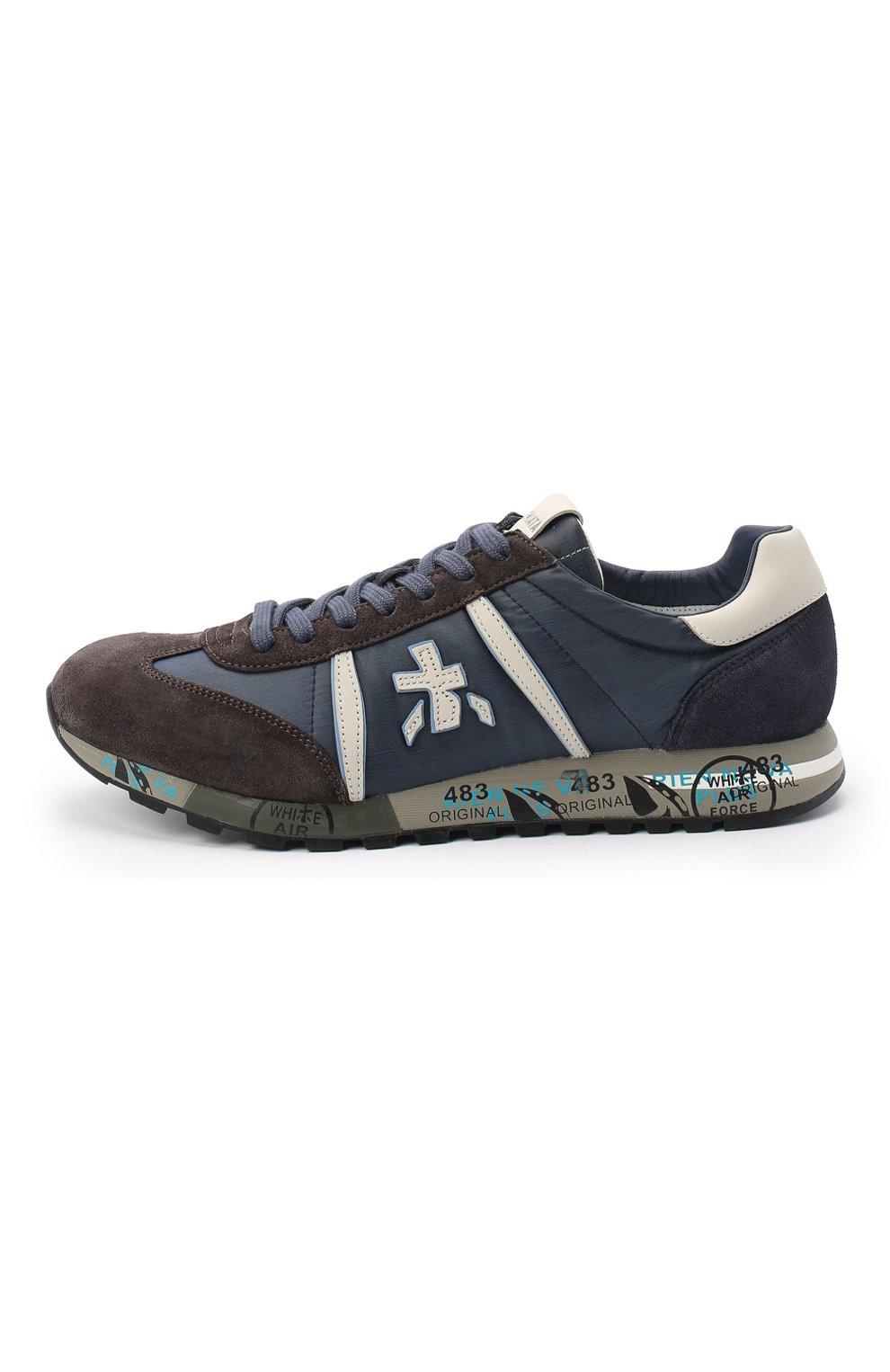 Мужские комбинированные кроссовки lucy PREMIATA синего цвета, арт. LUCY/VAR4931 | Фото 3