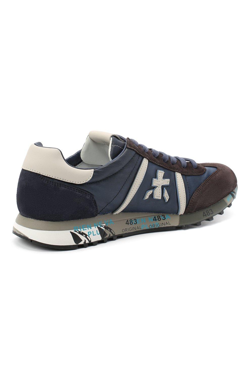 Мужские комбинированные кроссовки lucy PREMIATA синего цвета, арт. LUCY/VAR4931 | Фото 4