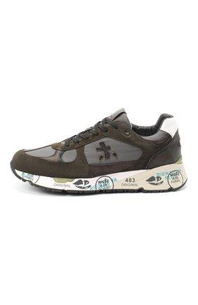 Мужские комбинированные кроссовки mase PREMIATA хаки цвета, арт. MASE/VAR4005 | Фото 3