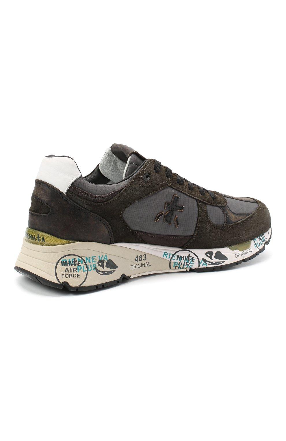 Мужские комбинированные кроссовки mase PREMIATA хаки цвета, арт. MASE/VAR4005 | Фото 4