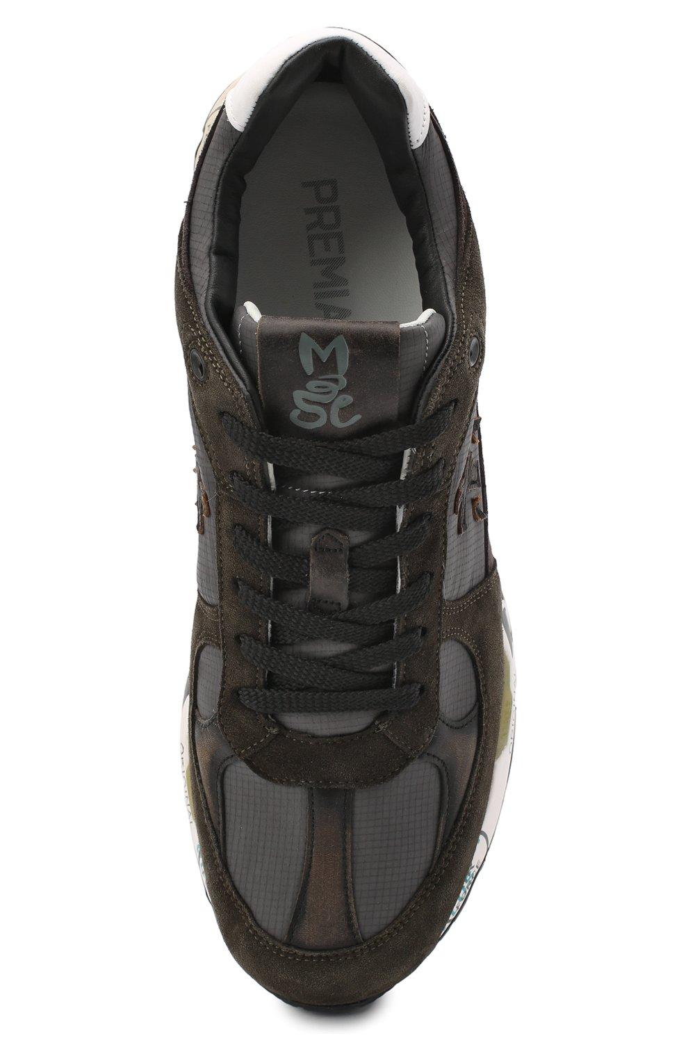 Мужские комбинированные кроссовки mase PREMIATA хаки цвета, арт. MASE/VAR4005 | Фото 5