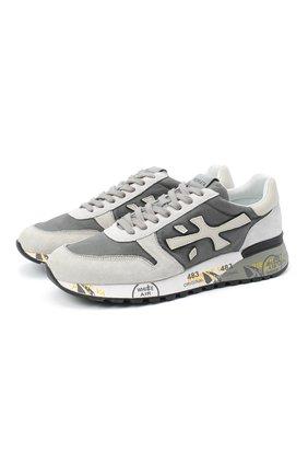 Мужские комбинированные кроссовки mick PREMIATA серого цвета, арт. MICK/VAR4952 | Фото 1