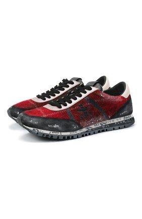 Мужские комбинированные кроссовки sean PREMIATA красного цвета, арт. SEAN/VAR4235 | Фото 1