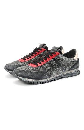Мужские комбинированные кроссовки sean PREMIATA серого цвета, арт. SEAN/VAR4237 | Фото 1