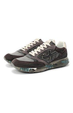 Мужские комбинированные кроссовки zac-zac PREMIATA серого цвета, арт. ZAC-ZAC/VAR3547 | Фото 1