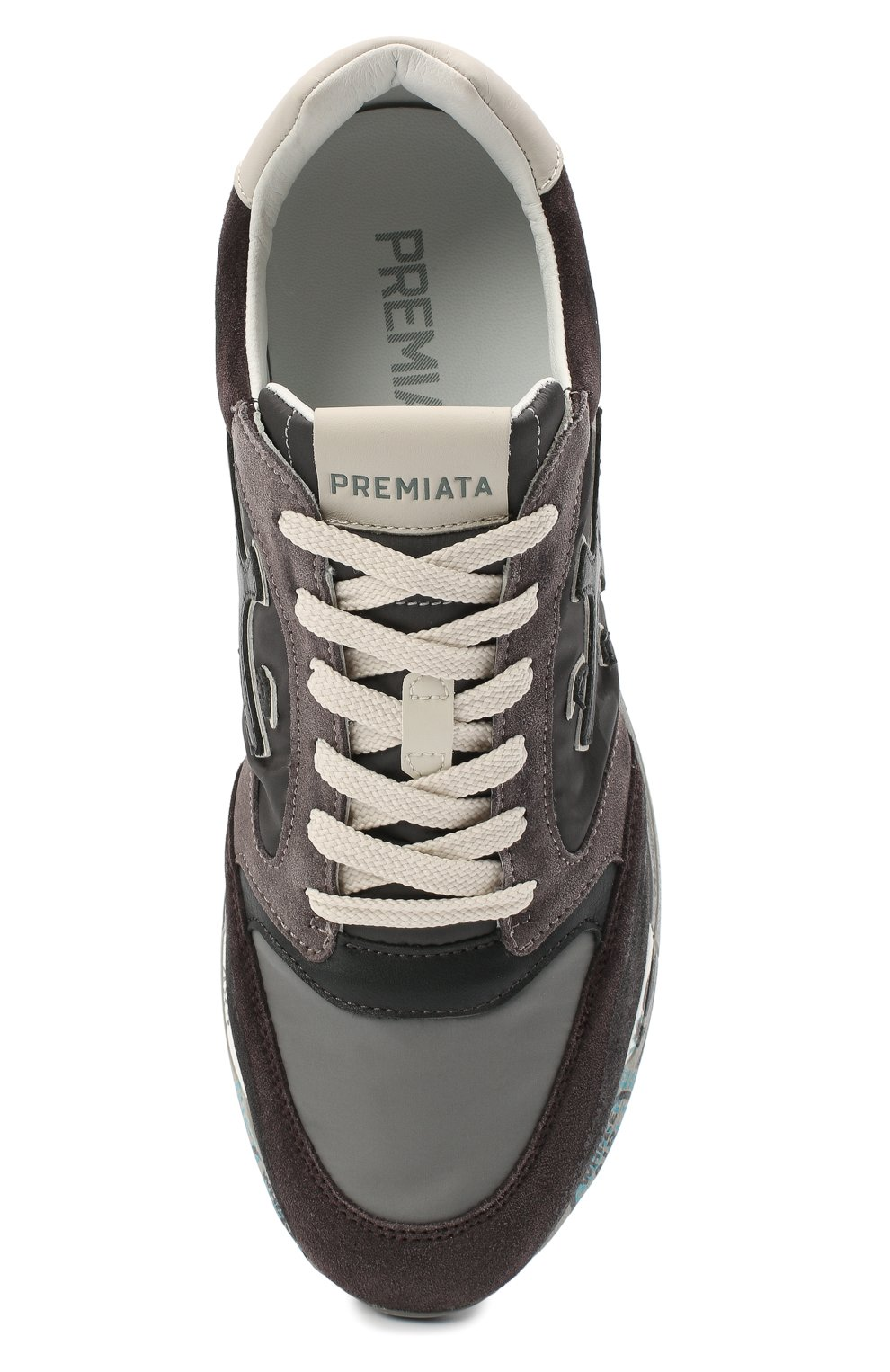 Мужские комбинированные кроссовки zac-zac PREMIATA серого цвета, арт. ZAC-ZAC/VAR3547 | Фото 5