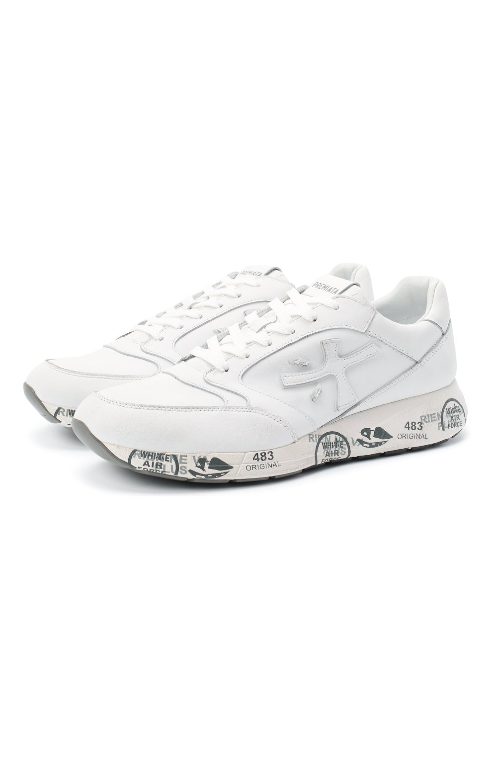 Мужские комбинированные кроссовки zac-zac PREMIATA белого цвета, арт. ZAC-ZAC/VAR3831 | Фото 1