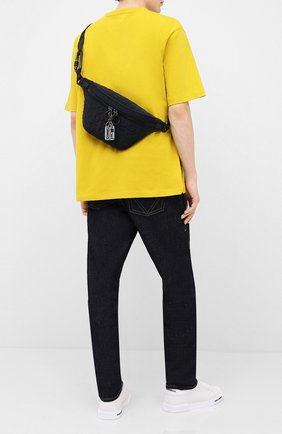 Мужская текстильная поясная сумка DOLCE & GABBANA черного цвета, арт. BM1760/AW141 | Фото 2