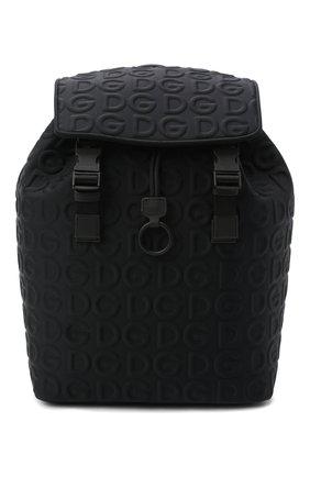 Мужской текстильный рюкзак DOLCE & GABBANA черного цвета, арт. BM1756/AW141 | Фото 1