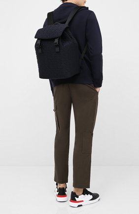 Мужской текстильный рюкзак DOLCE & GABBANA черного цвета, арт. BM1756/AW141 | Фото 2