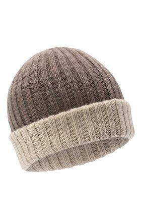 Мужская кашемировая шапка FEDELI темно-бежевого цвета, арт. 3UI07305 | Фото 1
