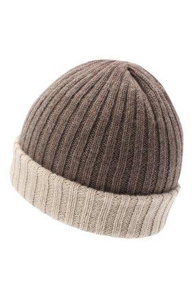 Мужская кашемировая шапка FEDELI темно-бежевого цвета, арт. 3UI07305 | Фото 2