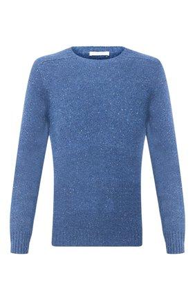 Мужской кашемировый свитер FEDELI синего цвета, арт. 3UI08095 | Фото 1