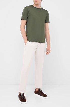 Мужская хлопковая футболка FEDELI хаки цвета, арт. 3UID0113 | Фото 2