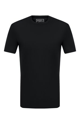 Мужская хлопковая футболка FEDELI черного цвета, арт. 3UID0113 | Фото 1