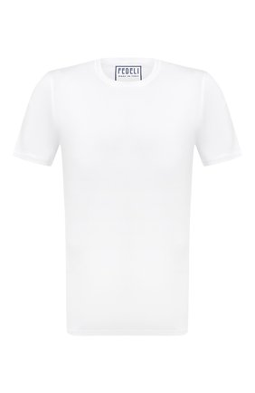Мужская хлопковая футболка FEDELI белого цвета, арт. 3UID0114 | Фото 1