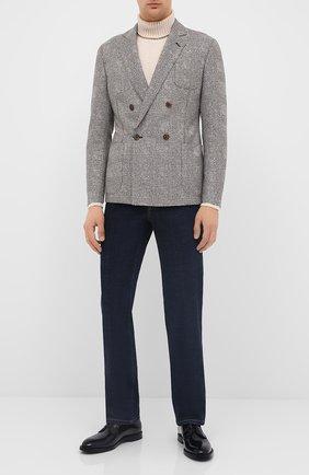 Мужской кожаные дерби DOLCE & GABBANA черного цвета, арт. A10650/A1203 | Фото 2