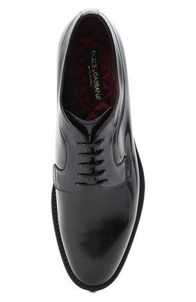 Мужские кожаные дерби DOLCE & GABBANA черного цвета, арт. A10650/A1203 | Фото 5