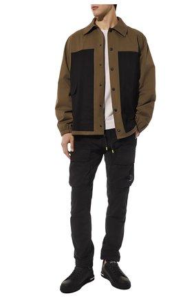 Мужские кожаные кеды portofino DOLCE & GABBANA черного цвета, арт. CS1774/AA335 | Фото 2