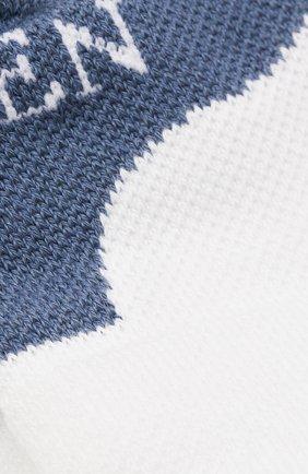 Мужские хлопковые носки ALEXANDER MCQUEEN голубого цвета, арт. 572016/4B67Q | Фото 2