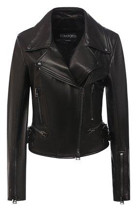 Женская кожаная куртка TOM FORD черного цвета, арт. GIL450-LEX228 | Фото 1