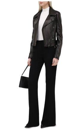 Женская кожаная куртка TOM FORD черного цвета, арт. GIL450-LEX228 | Фото 2