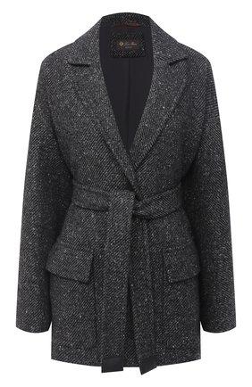 Женское кашемировое пальто LORO PIANA серого цвета, арт. FAL2987 | Фото 1