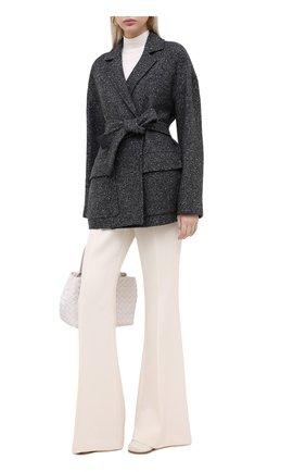 Женское кашемировое пальто LORO PIANA серого цвета, арт. FAL2987 | Фото 2