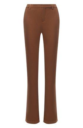 Женские хлопковые брюки LORO PIANA коричневого цвета, арт. FAL3133 | Фото 1
