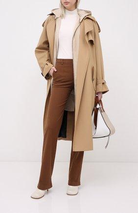 Женские хлопковые брюки LORO PIANA коричневого цвета, арт. FAL3133 | Фото 2