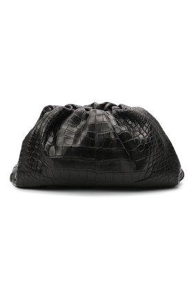 Женский клатч pouch из кожи аллигатора BOTTEGA VENETA черного цвета, арт. 576227/VCPX0/AMIS | Фото 1