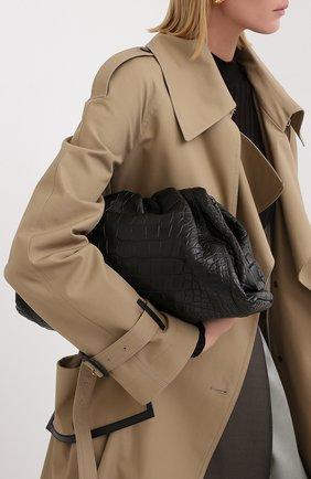 Женский клатч pouch из кожи аллигатора BOTTEGA VENETA черного цвета, арт. 576227/VCPX0/AMIS | Фото 2