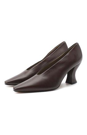 Женская кожаные туфли almond BOTTEGA VENETA темно-коричневого цвета, арт. 608839/VBSD0 | Фото 1