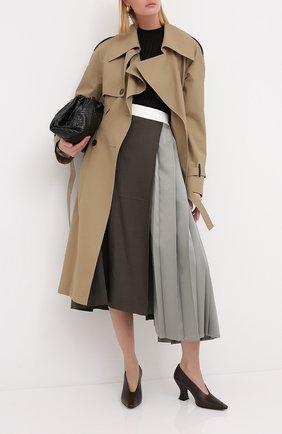 Женская кожаные туфли almond BOTTEGA VENETA темно-коричневого цвета, арт. 608839/VBSD0 | Фото 2