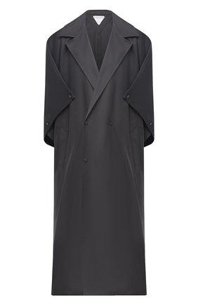 Женский хлопковый плащ BOTTEGA VENETA серого цвета, арт. 632789/VKUM0 | Фото 1