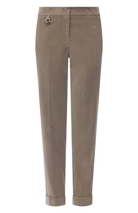 Женские хлопковые брюки LORENA ANTONIAZZI бежевого цвета, арт. A2044PA014/3068 | Фото 1
