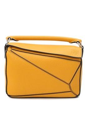 Женская сумка puzzle mini LOEWE желтого цвета, арт. 322.30.U95   Фото 1