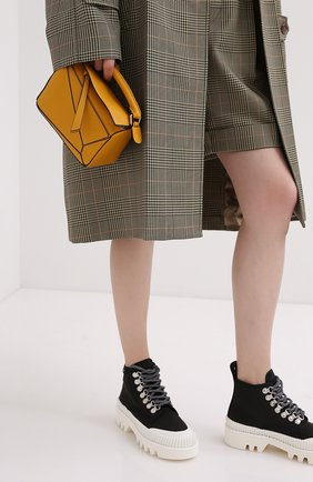 Женская сумка puzzle mini LOEWE желтого цвета, арт. 322.30.U95   Фото 2