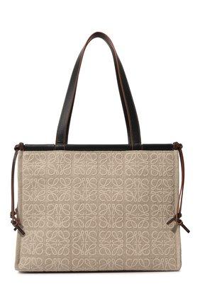 Женский сумка-тоут cushion LOEWE бежевого цвета, арт. A612B90X14   Фото 1 (Сумки-технические: Сумки-шопперы)