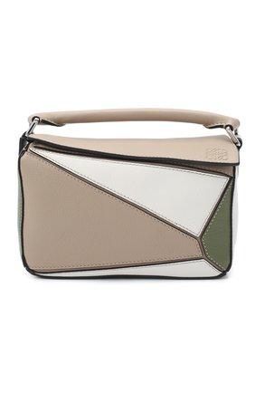 Женская сумка puzzle mini LOEWE зеленого цвета, арт. A510U95X19   Фото 1