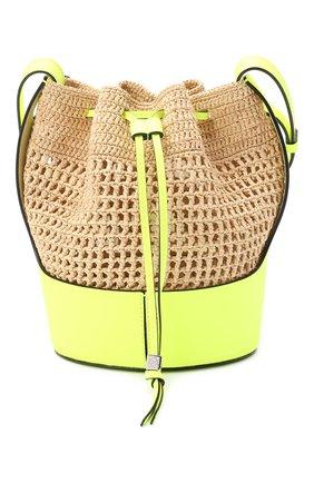 Женская сумка baloon small LOEWE желтого цвета, арт. 328.02AC31   Фото 1