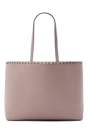 Женский сумка-шопер valentino garavani rockstud VALENTINO бежевого цвета, арт. UW2B0B70/VSF | Фото 1