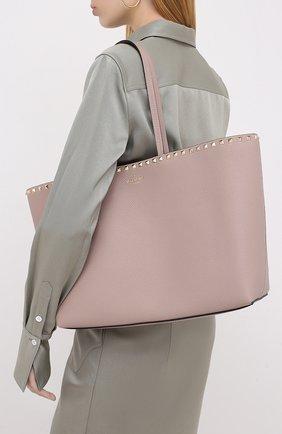Женский сумка-шопер valentino garavani rockstud VALENTINO бежевого цвета, арт. UW2B0B70/VSF | Фото 2