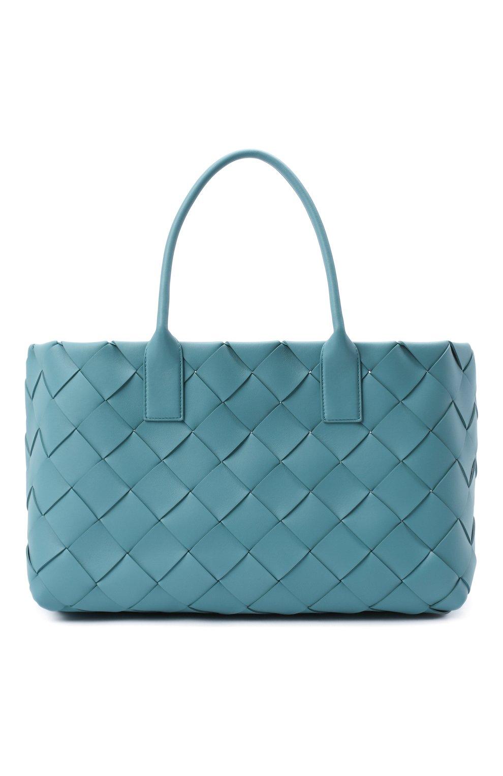 Женский сумка-тоут BOTTEGA VENETA голубого цвета, арт. 630817/VMAY3 | Фото 1