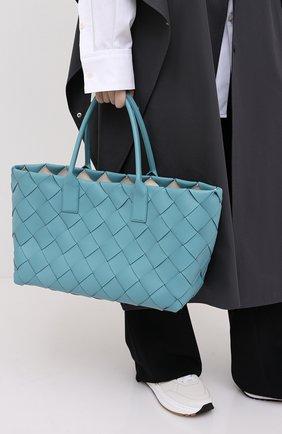 Женский сумка-тоут BOTTEGA VENETA голубого цвета, арт. 630817/VMAY3 | Фото 2