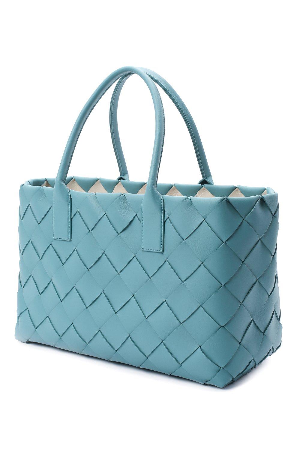 Женский сумка-тоут BOTTEGA VENETA голубого цвета, арт. 630817/VMAY3 | Фото 3
